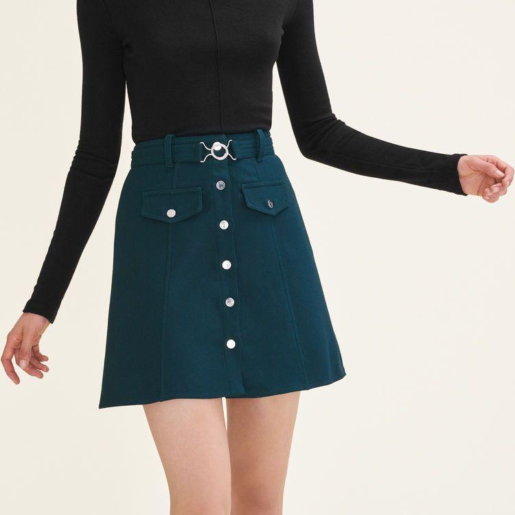 JILLI Belted trapeze skirt by Maje Paris   Skirts