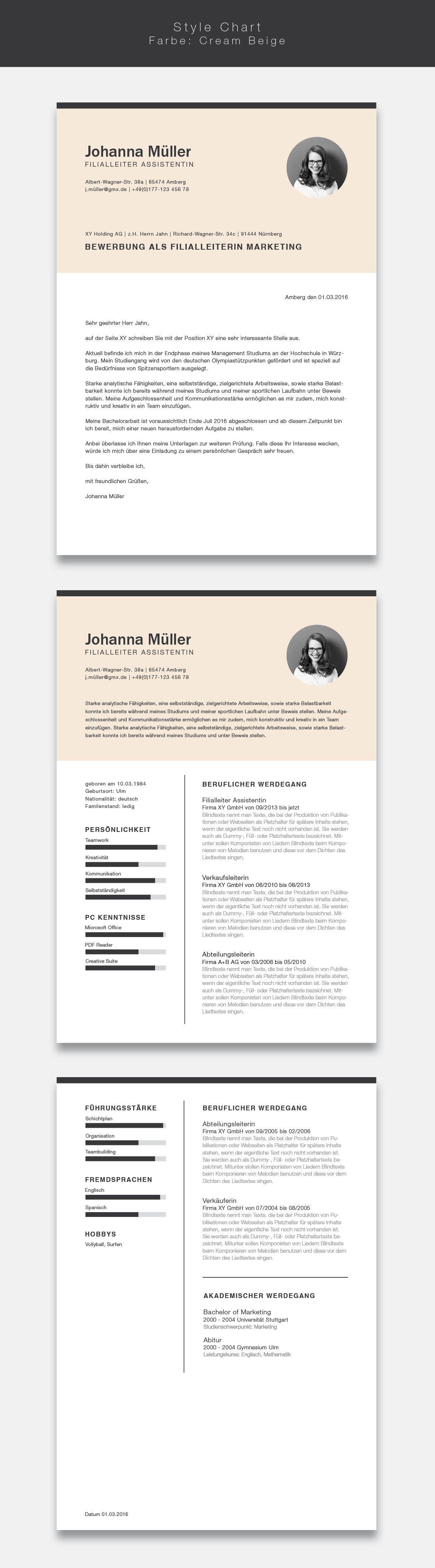 Unsere Bewerbungsvorlage Cvtemplate Erforsche Pinterest Cvtemplate Stil In Der Farbe Cream Hellip Cv Template Cv Design Resume Design