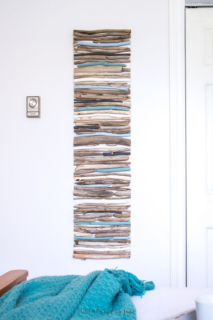 DIY Coastal Decor - Painted Driftwood Wall Art – Sustain My Craft Habit