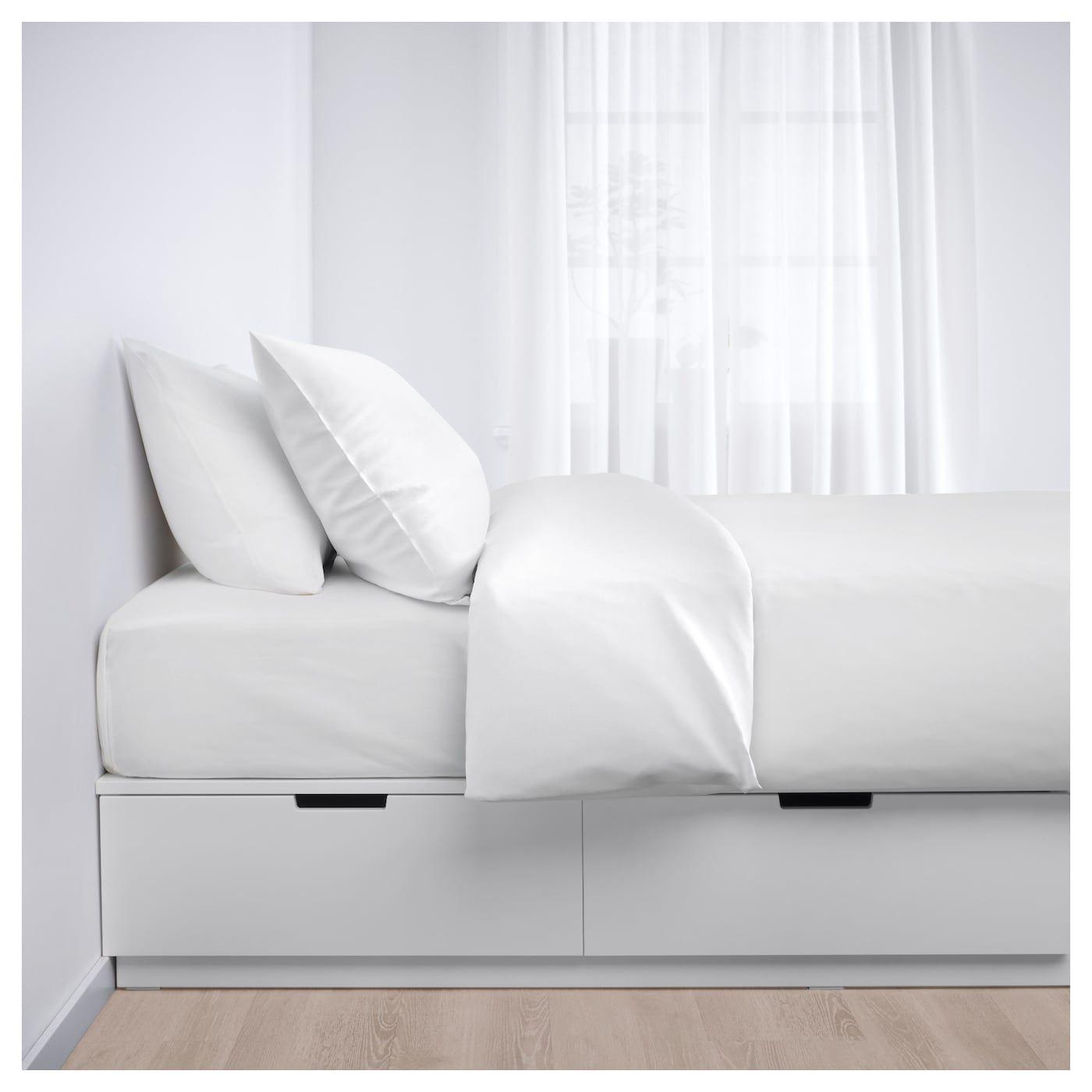 Nordli Sangstomme Med Forvaring Vit 90x200 Cm Ikea Bed Frame With Storage Single Beds With Storage Bed Frame