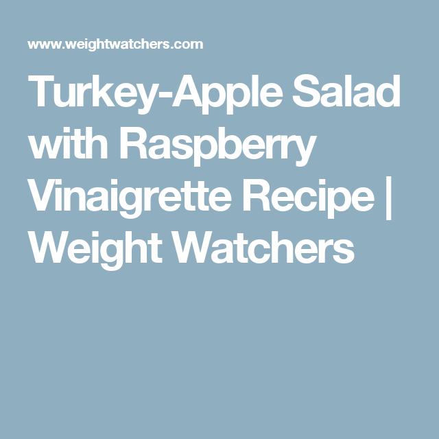 Turkey-Apple Salad with Raspberry Vinaigrette Recipe | Weight Watchers
