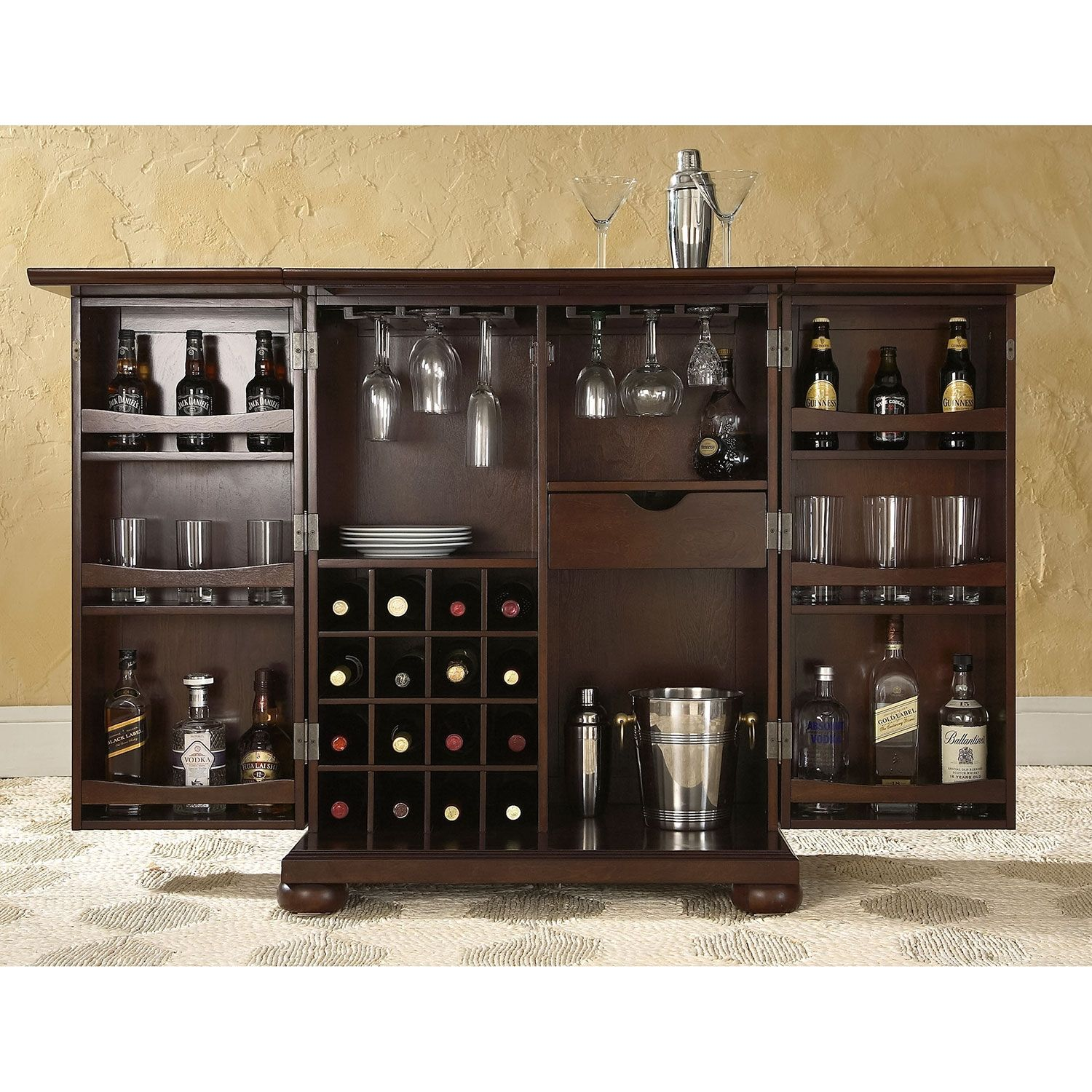 Renzo Bar Cabinet Value City Furniture With Images Bar