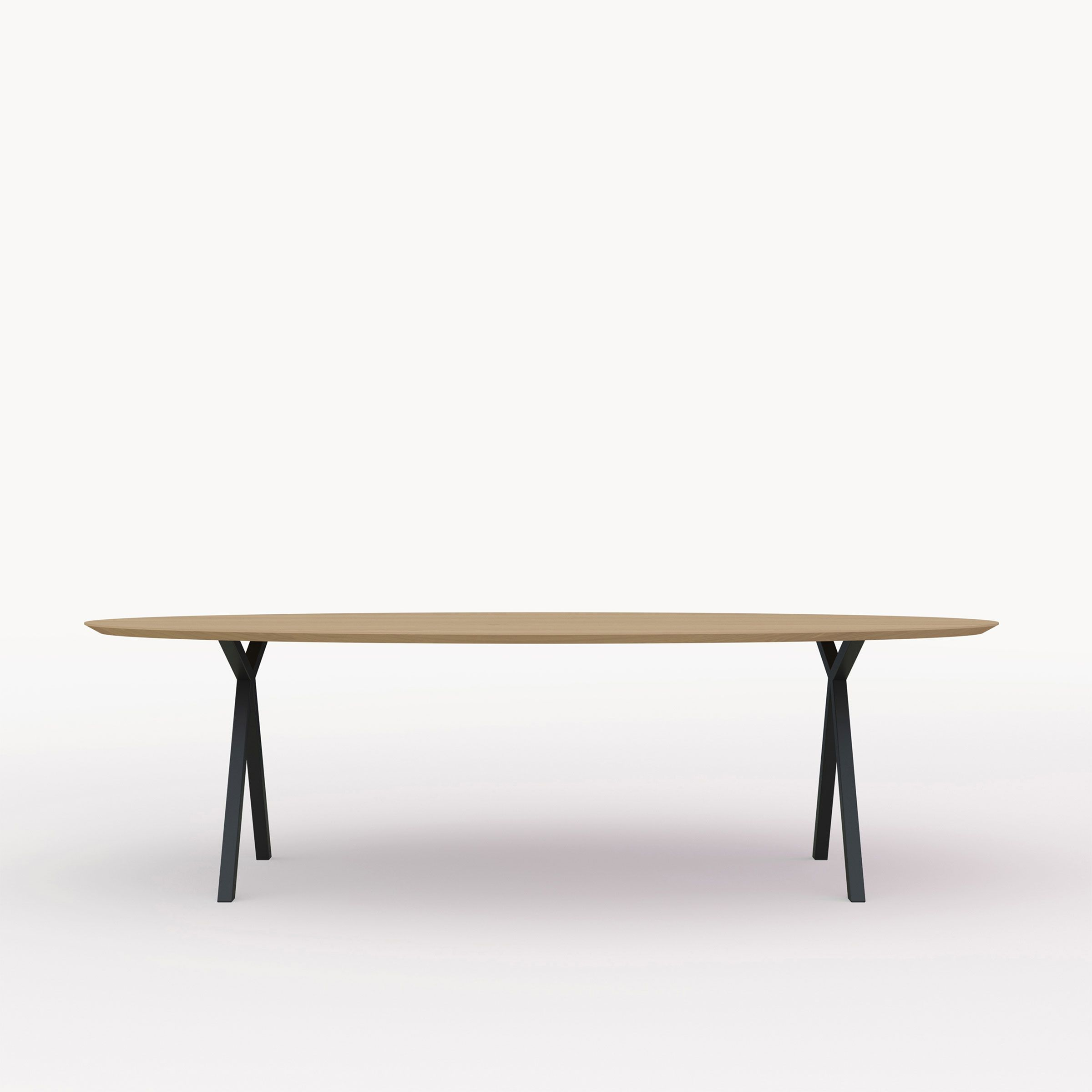 Design Tafel Ovaal Slim X-type Zwart Naturel olie wax STUDIO HENK ...