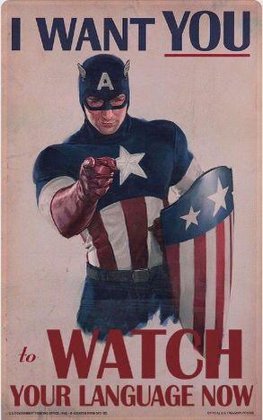 Clean Captain America Marvel Superhero