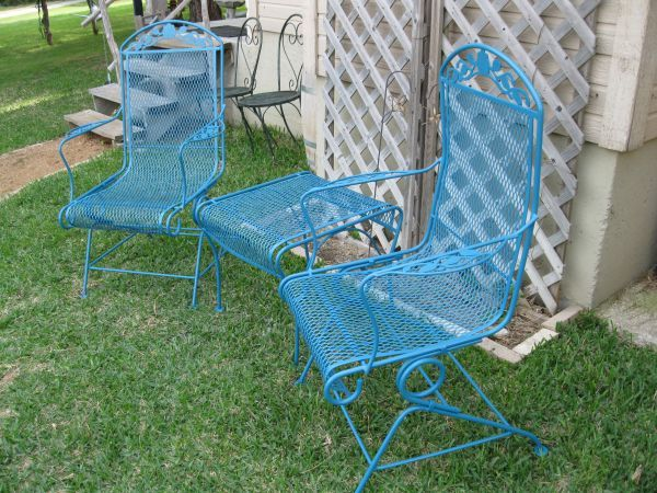 3 Piece Wrought Iron Patio Set With Images Patio Furniture