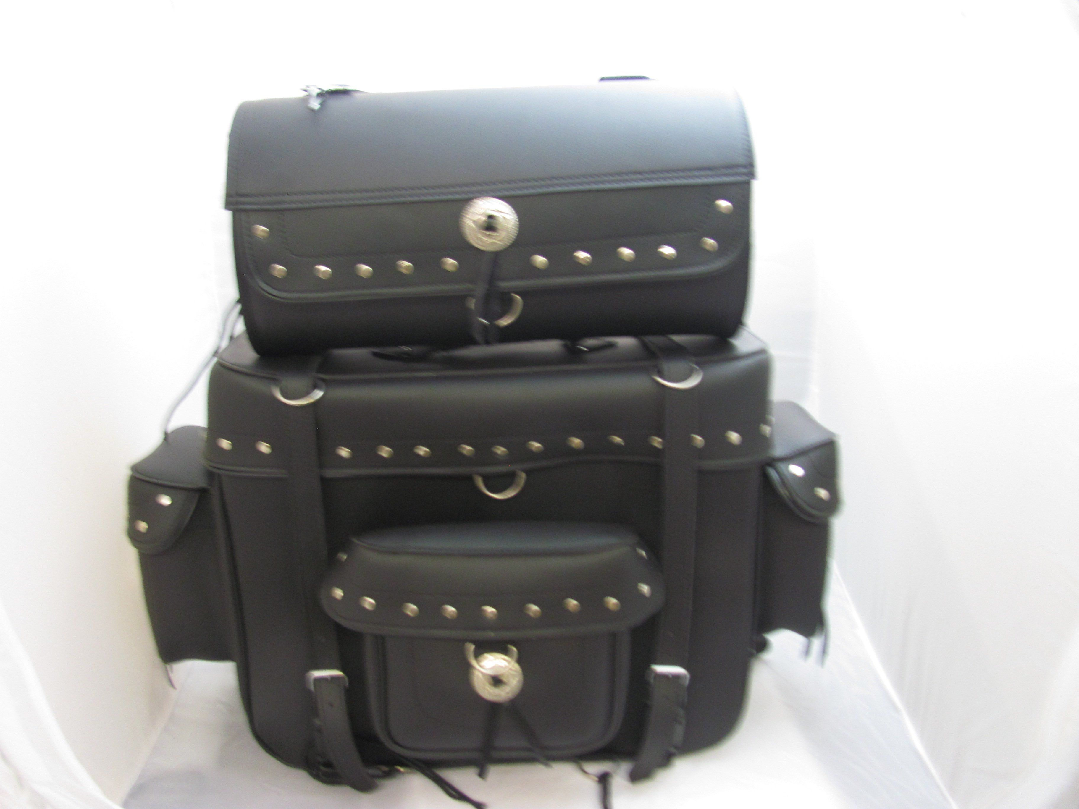 Motorcycle Travel Bag Two Piece Luggage Sissybar T Studded Sbtb540s