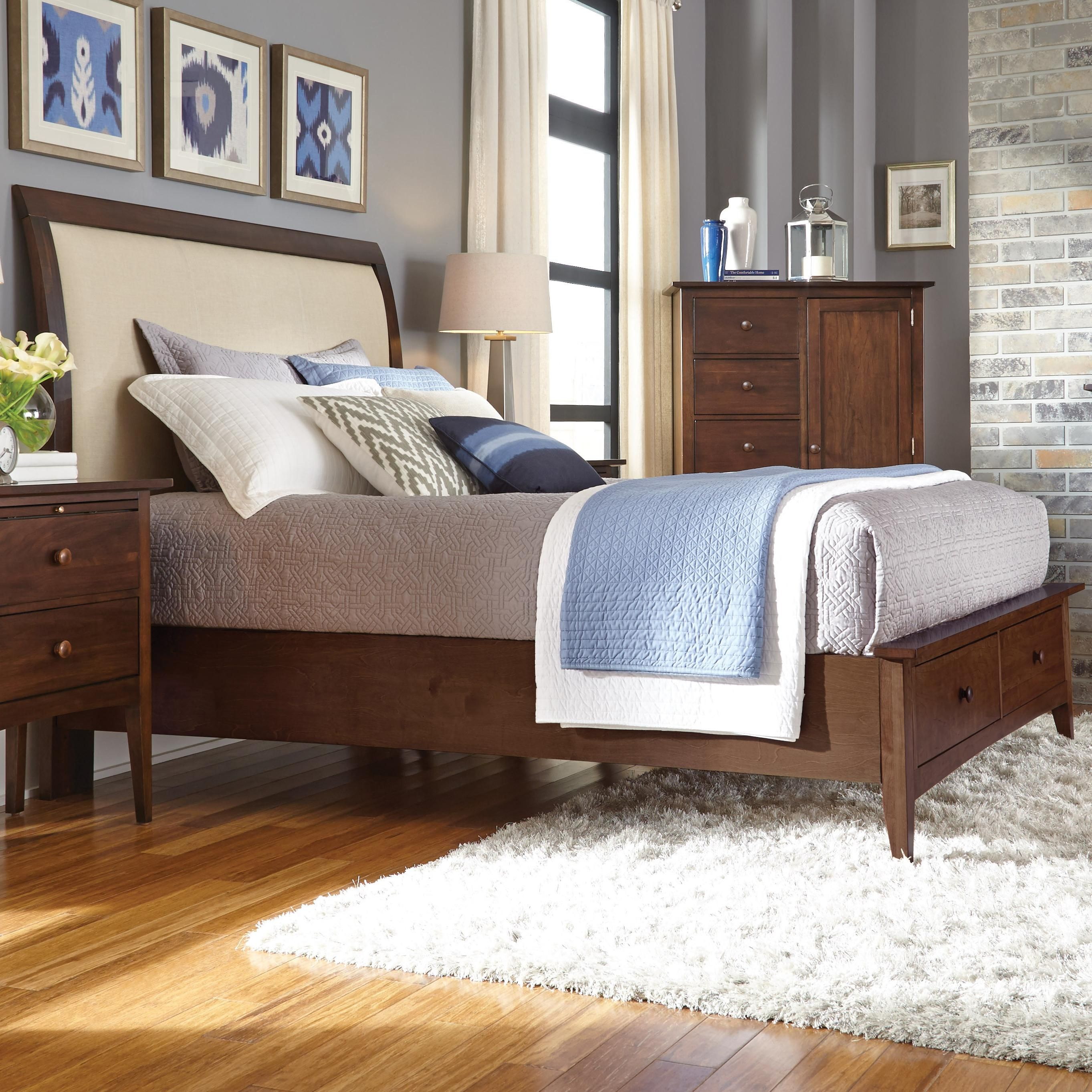 Gatherings king meridian bed with storage footboard by kincaid