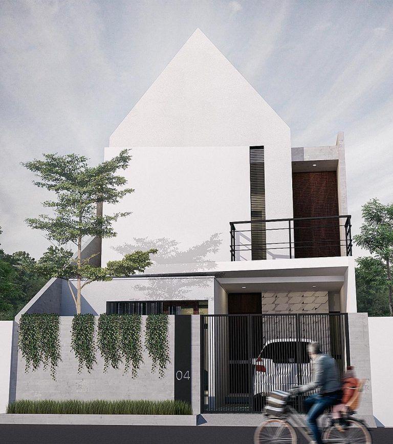 Gambar Rumah Sederhana 2 Lantai Modern Dengan Gambar Arsitektur Modern Desain Eksterior Rumah