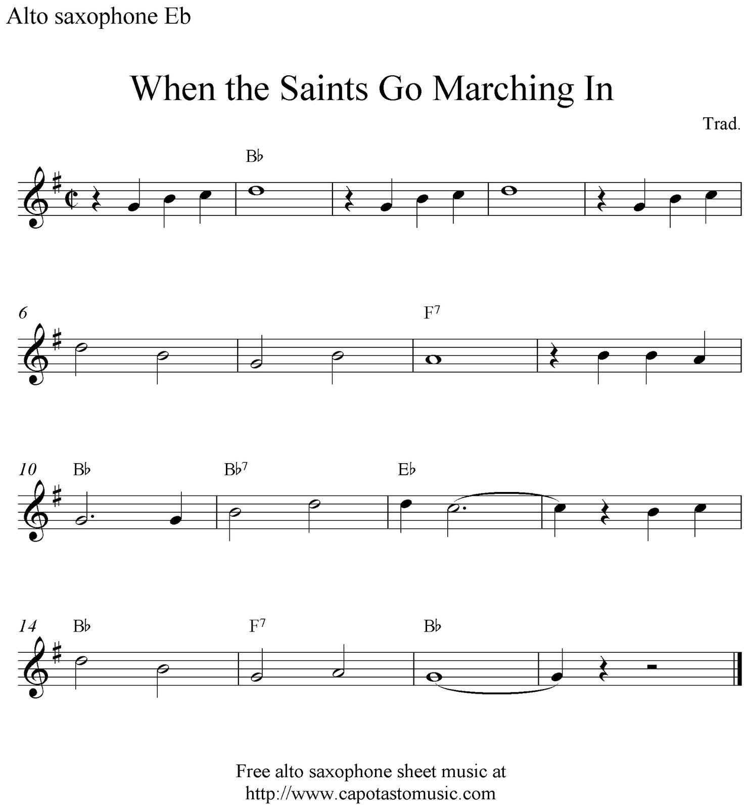 Alto Saxophone Sheet Music