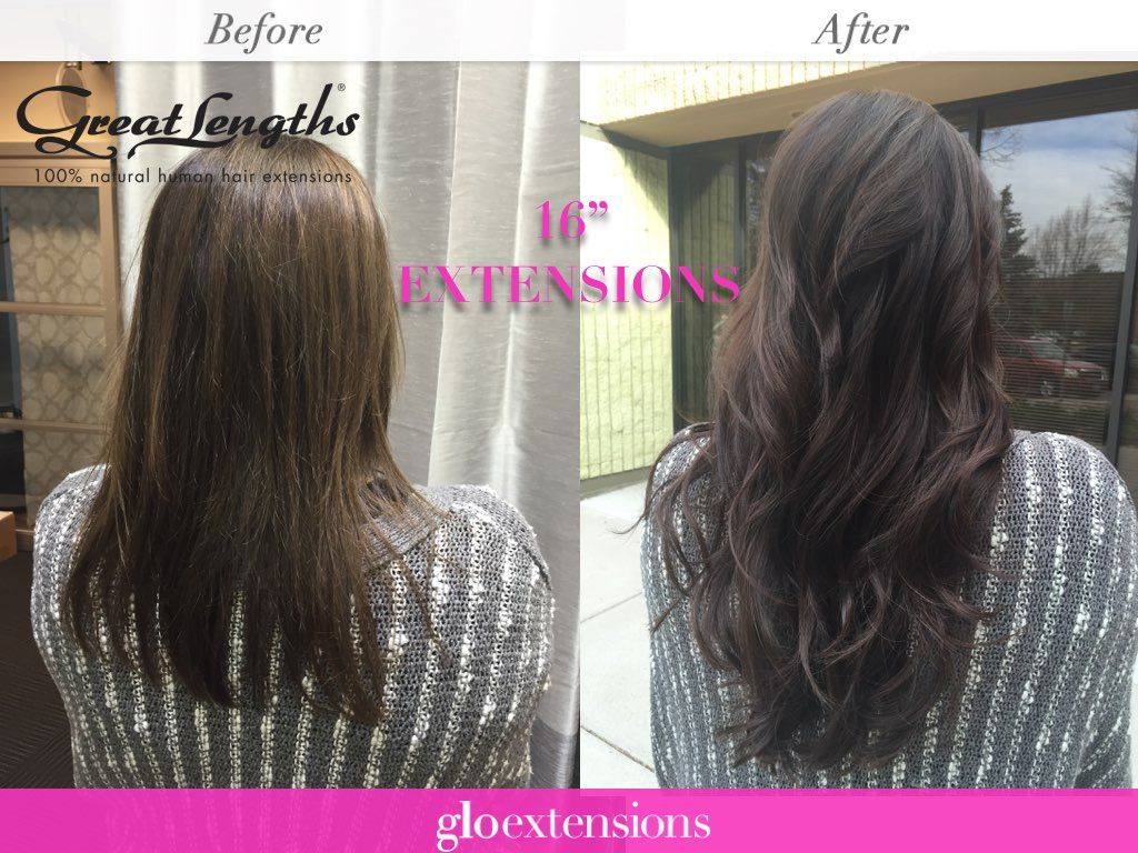 Hair Extensions Before And After By Glo Extensions Denver Hair