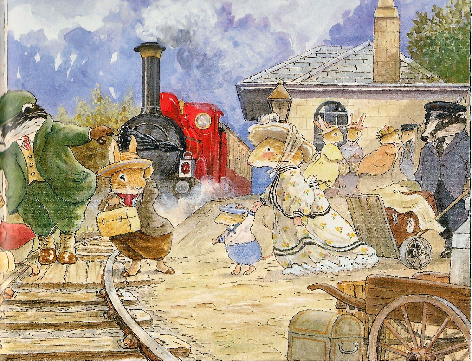 Acquerelli Bambini ~ The train station foxwood tales by cynthia and brian paterson