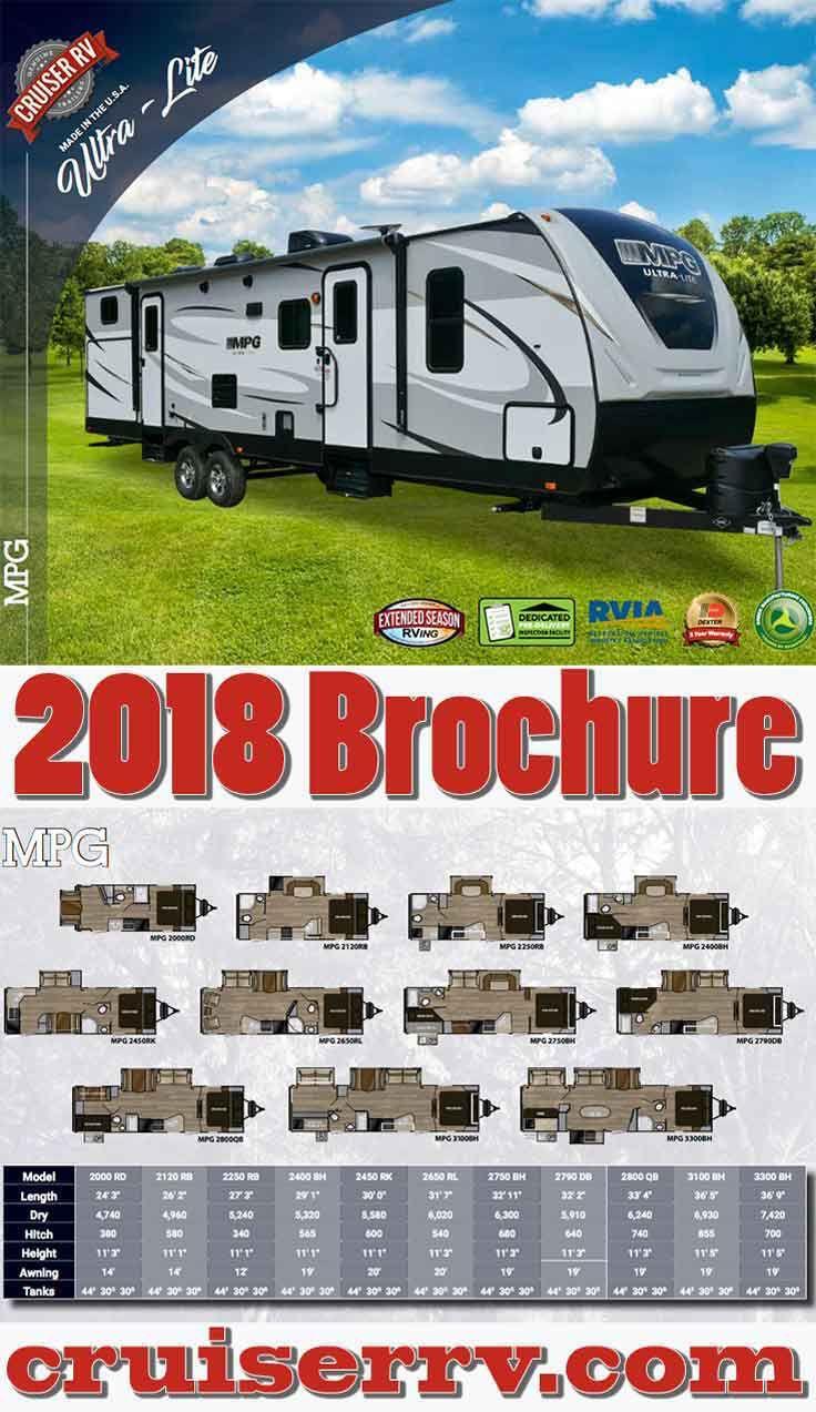2018 Mpg Ultra Lite Travel Trailers Brochure Cruiser Rv Ultra