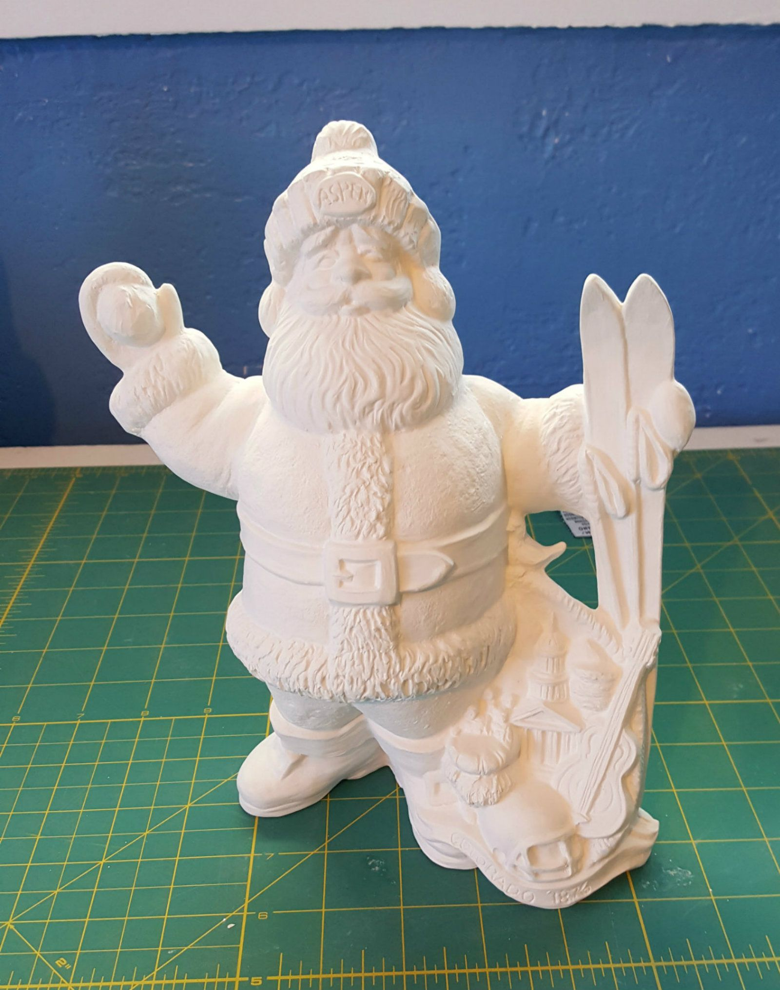 Colorado Themed State Santa Claus Ready To Paint Ceramics Ceramic Bisque Santa Claus