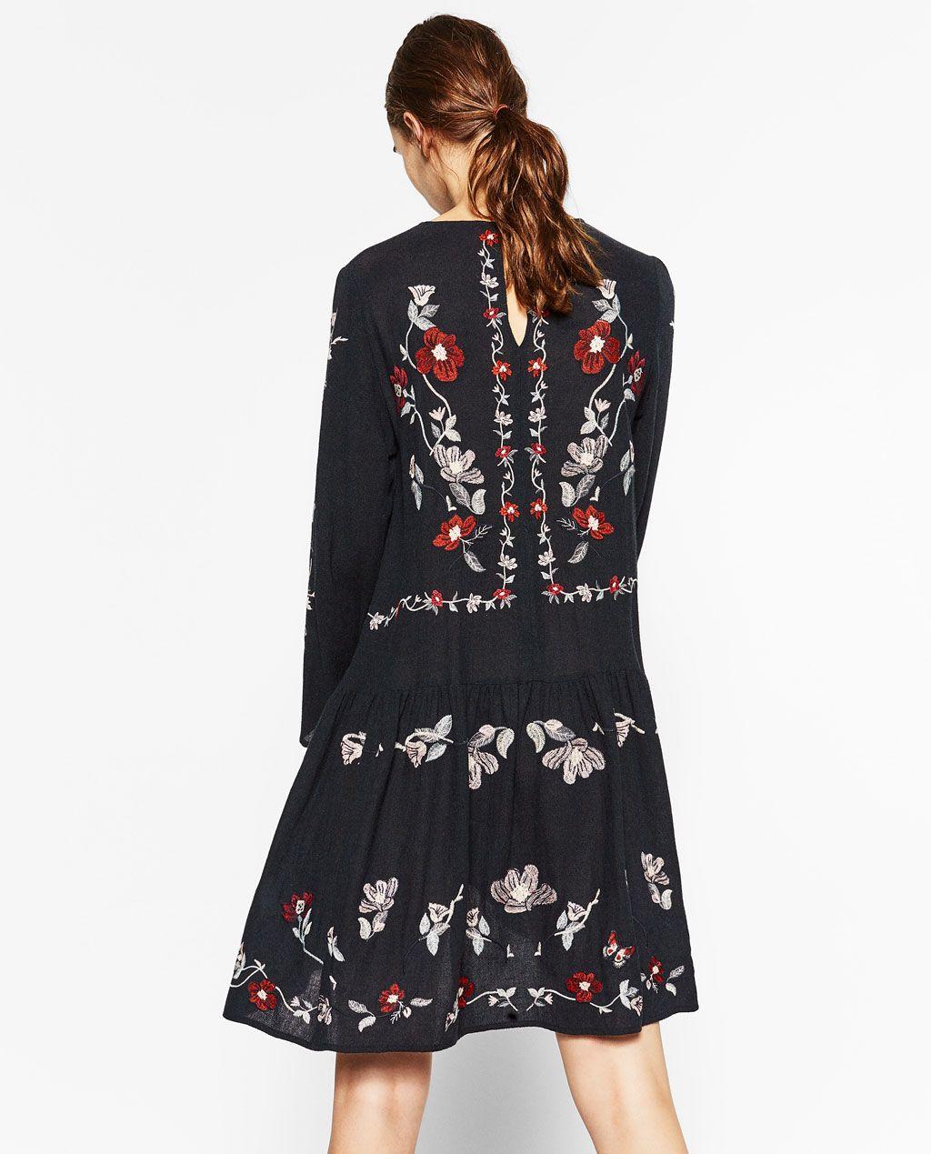 Imagen 4 De Vestido Bordado De Zara Embroidered Dress Unique Dresses Engagement Party Dresses