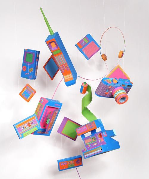 Colorful Paper Gadgets By Zim Zou 1 Design Per Day Inspiration