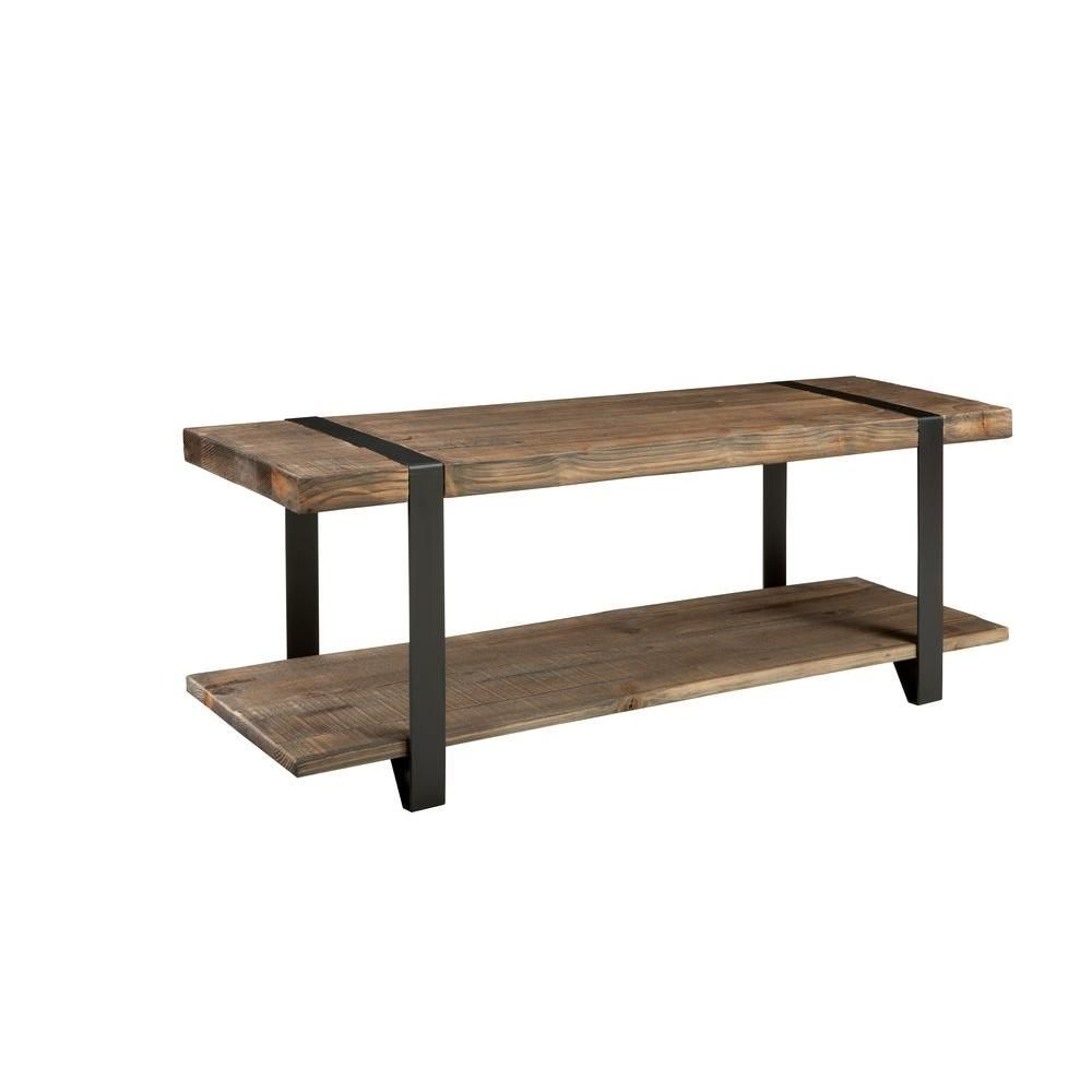 Alaterre Furniture Modesto 48 In. L Reclaimed Wood Bench In Rustic  Natural AMSA0320