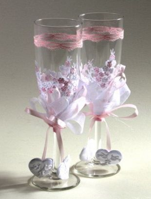 como decorar copas para boda lodijoella