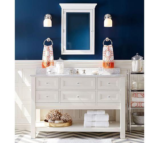 Bath. sherwin williams color  indigo batik sw7602 Classic Single Wide