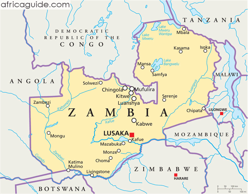 lusaka zambia africa map