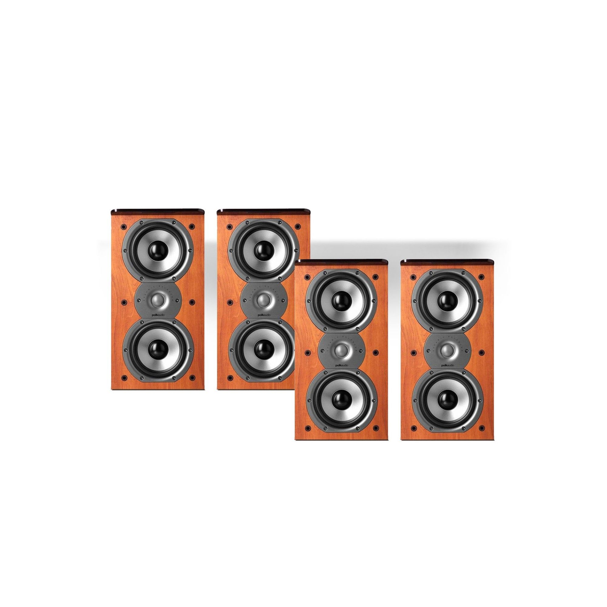 "Pair Polk Audio TSi200 2-Way Bookshelf Speakers with Dual 5-1//4/"" Drivers"