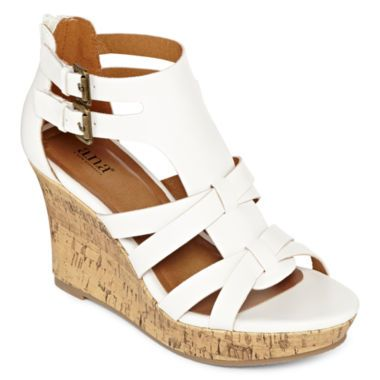 08565c8a79a5 tan a.n.a® Molly Open-Toe Wedge Sandals found at  JCPenney