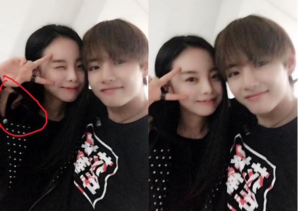 V And Hobis Sister V And J Hope Sister Bts Bts Taehyung