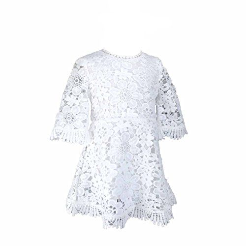 e78c273207f Everweekend Baby Girls White Lace Dress for Wedding and Party ...