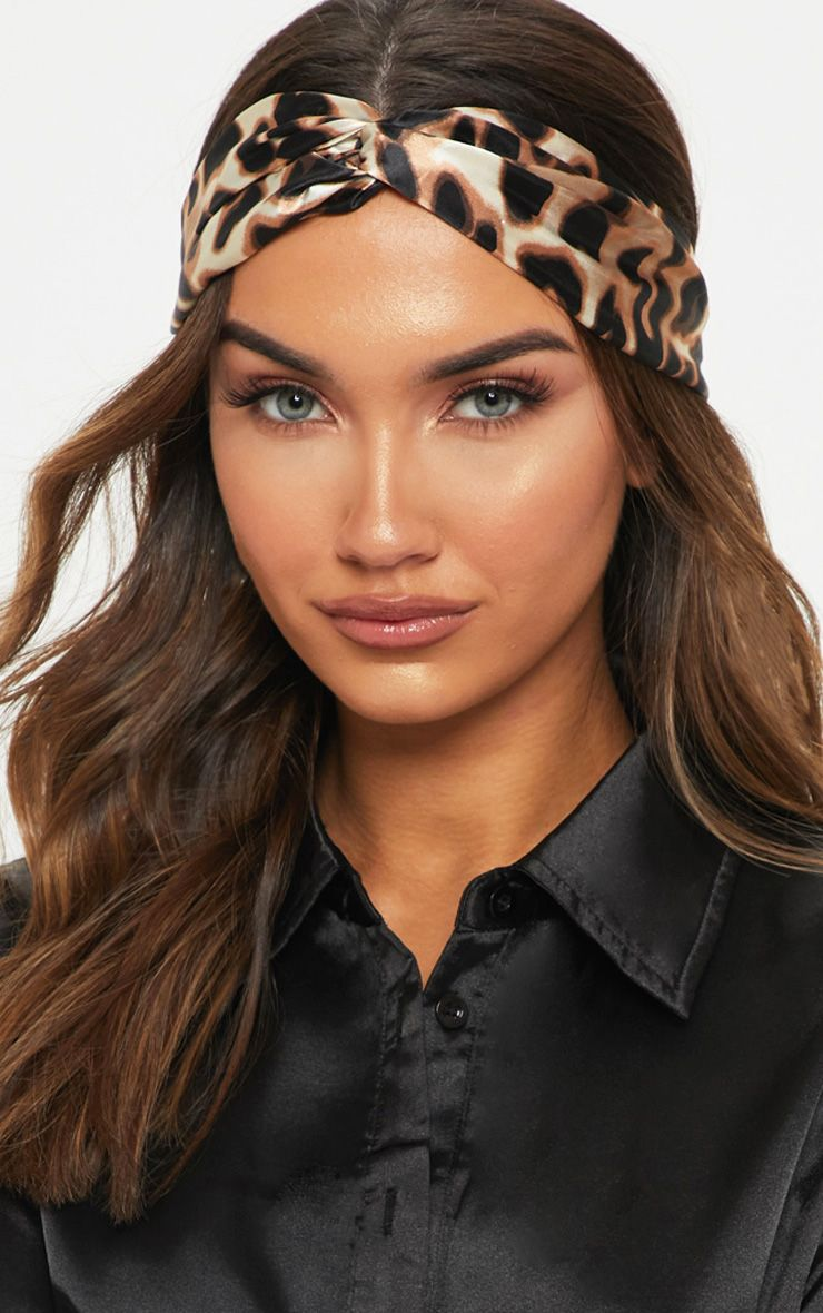 Animal Print Headband Bandana Hairband Leopard Fabric Bow Tie Band Head scarf