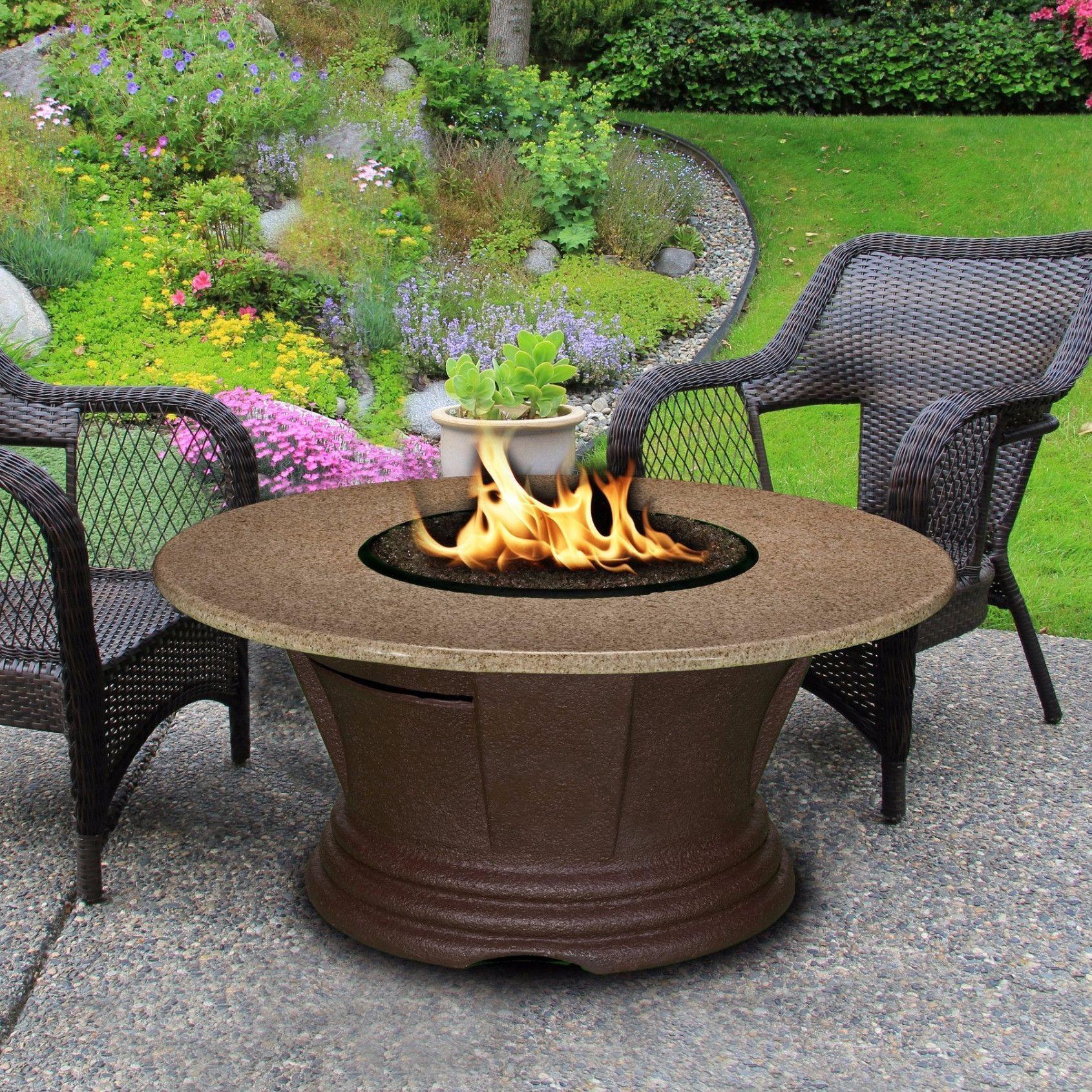 American fire glass san simeon round fire pit w