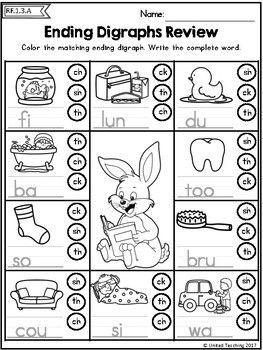 Easter Literacy Worksheets (1st Grade) (Distance Learning