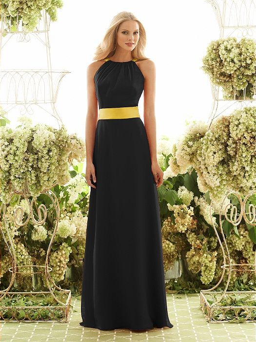 Idea For A Black And Gold Wedding Bridesmaid Dresses Long