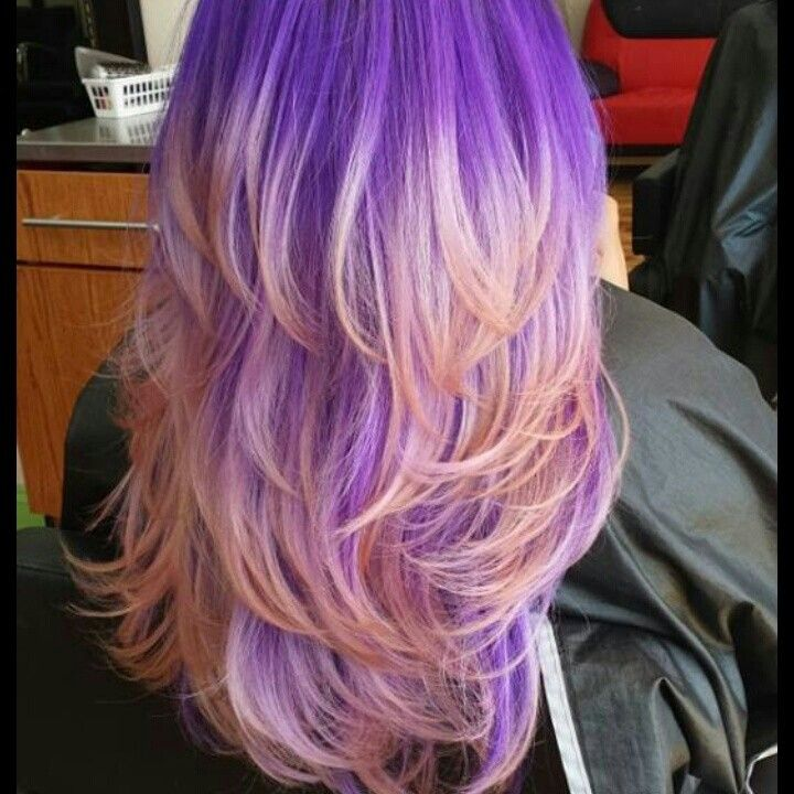 I can pin my own hair now XD Purple & pink ombre