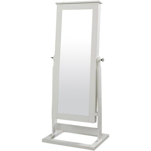 Powell Kallie White Cheval Mirror ($239) ❤ liked on Polyvore ...