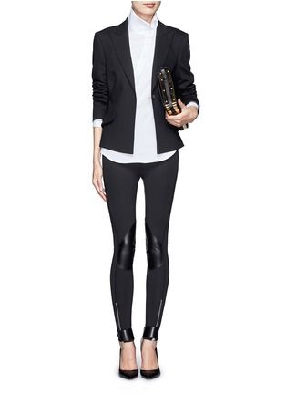 bc5ae1fcc683 MCQ ALEXANDER MCQUEEN - Faux leather knee patch stretch pants ...