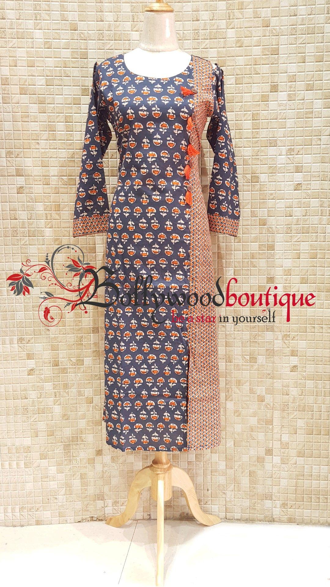 Designer kurti fabric cotton color multi color product type