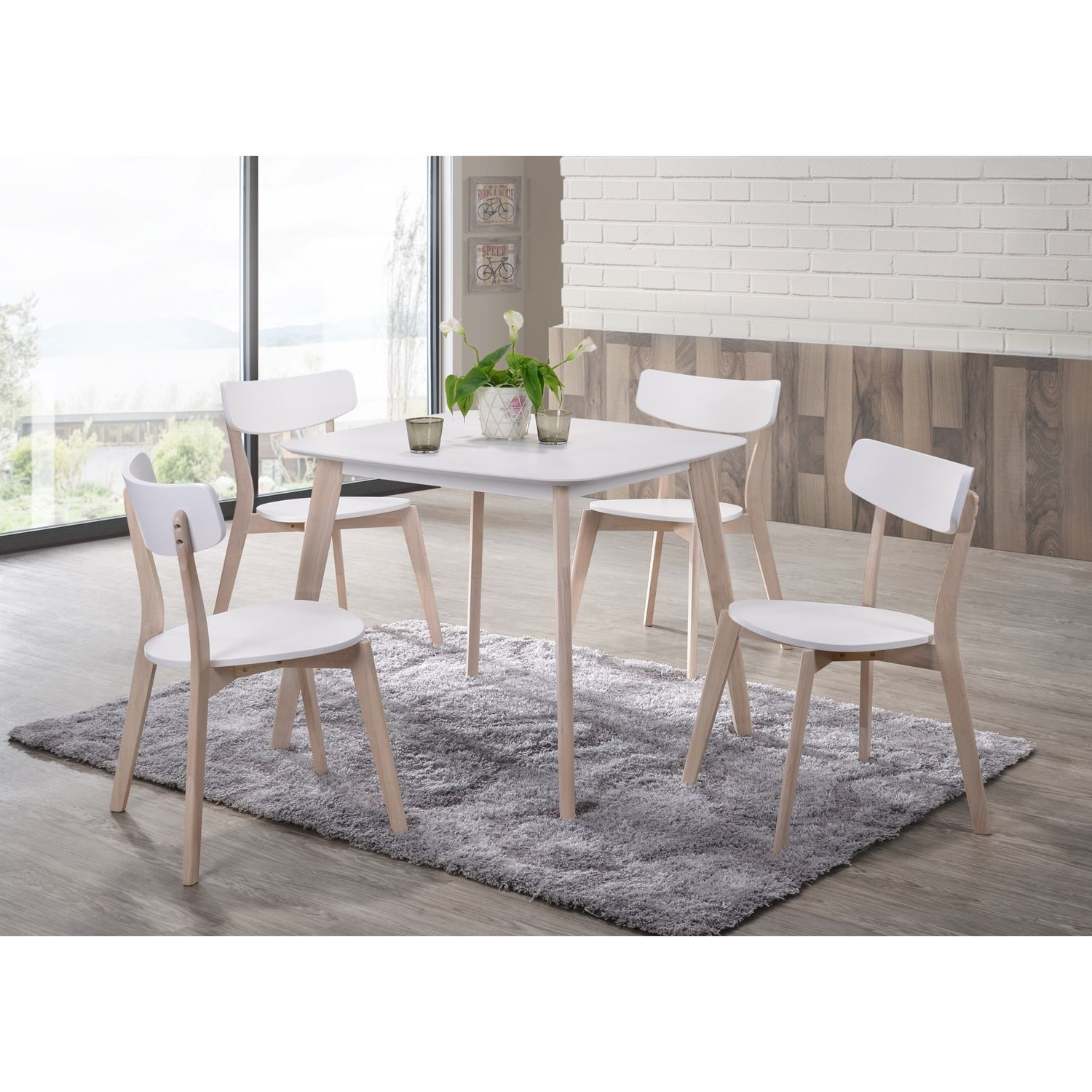 Mika Dining Table And Four Chairs Set Dining Table 4 Seater Dining Table Table And Chair Sets