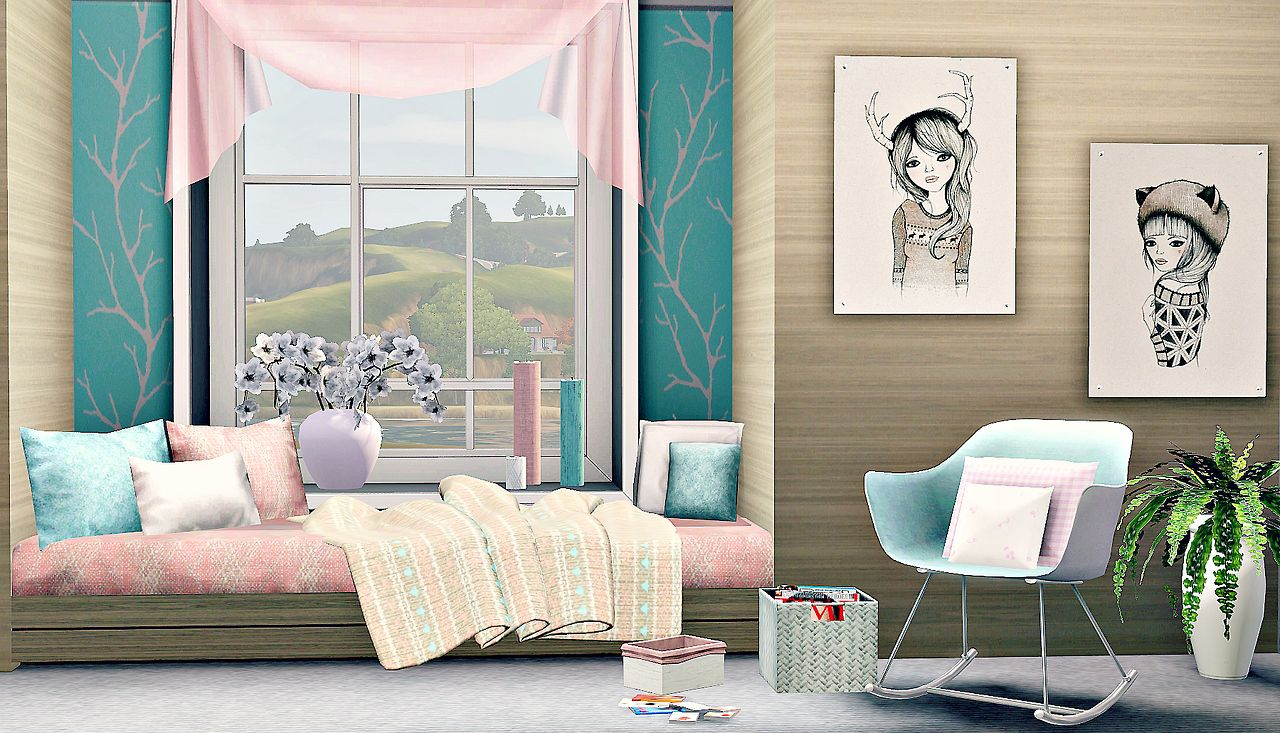 The sims 3 living beautiful inspiration for more daily for Teenage living room ideas