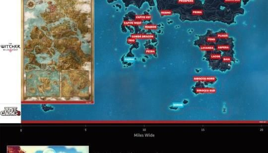 The size of open world games compared a new comparative map shows the size of open world games compared a new comparative map shows the scale of gumiabroncs Images