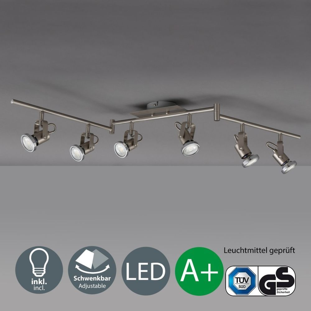 Details zu LED Deckenleuchte 6-flammig Decken-Strahler Lampe modern ...