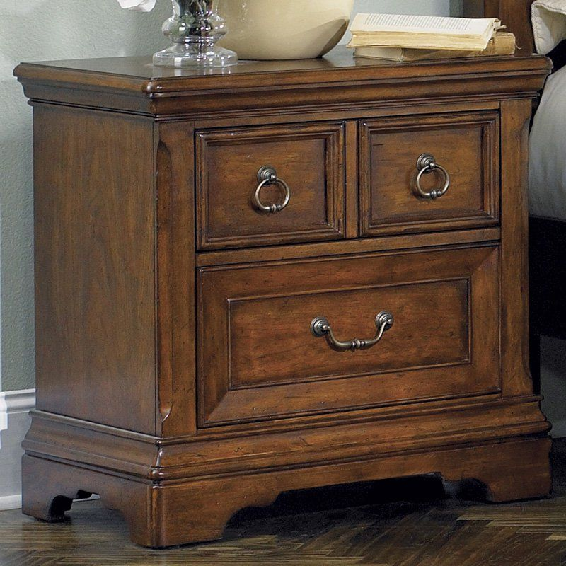 Best Liberty Furniture Laurelwood 2 Drawer Nightstand 547 400 x 300