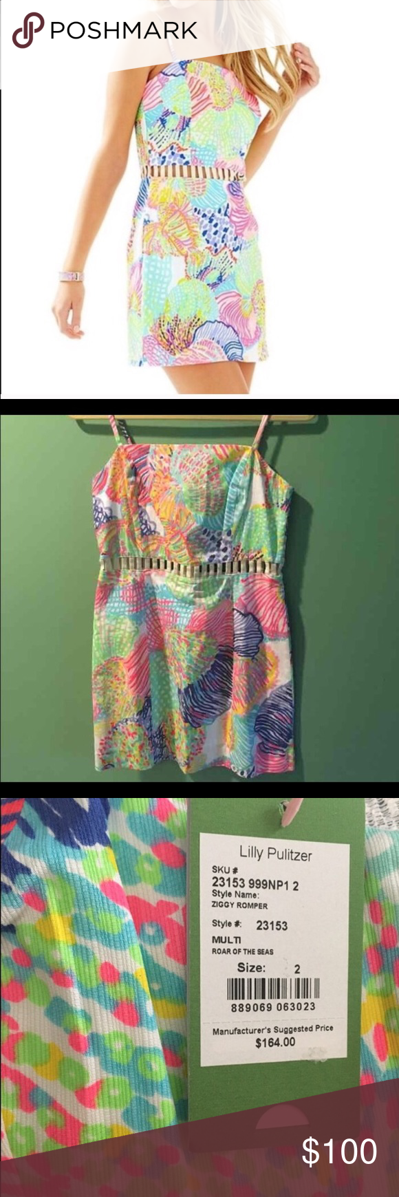 NWT Lilly Pulitzer Ziggy Romper NWT Lilly Pulitzer Ziggy Romper! Perfect for spring and summer!! Size 2 Lilly Pulitzer Dresses