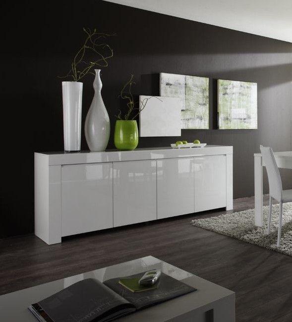 Buffet Laque Blanc White Sideboard White Gloss Furniture Modern Sideboard