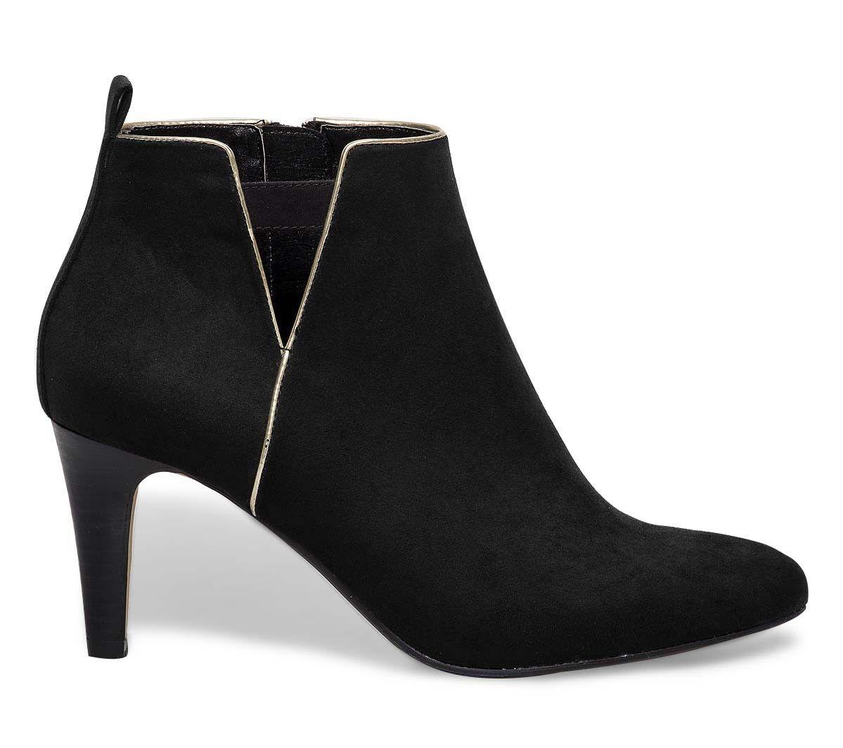 Boots Or Détail Bottines Noires Femme xHpqwzYFAW