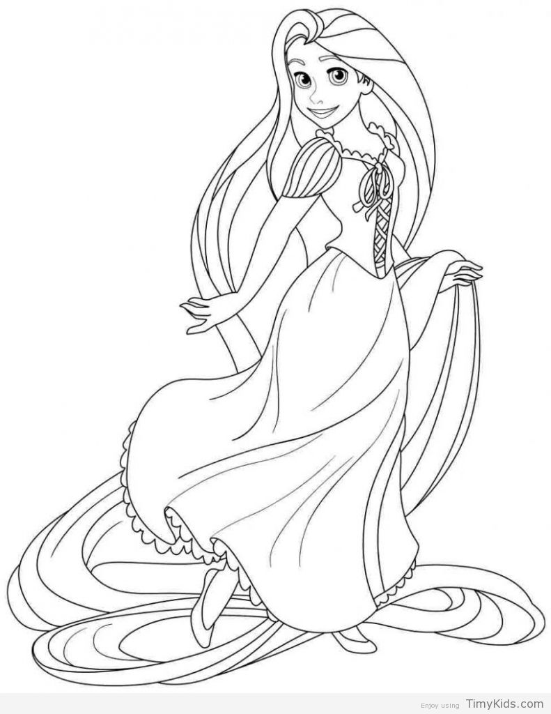 30 Princess Coloring Pages For Girls With Images Rapunzel