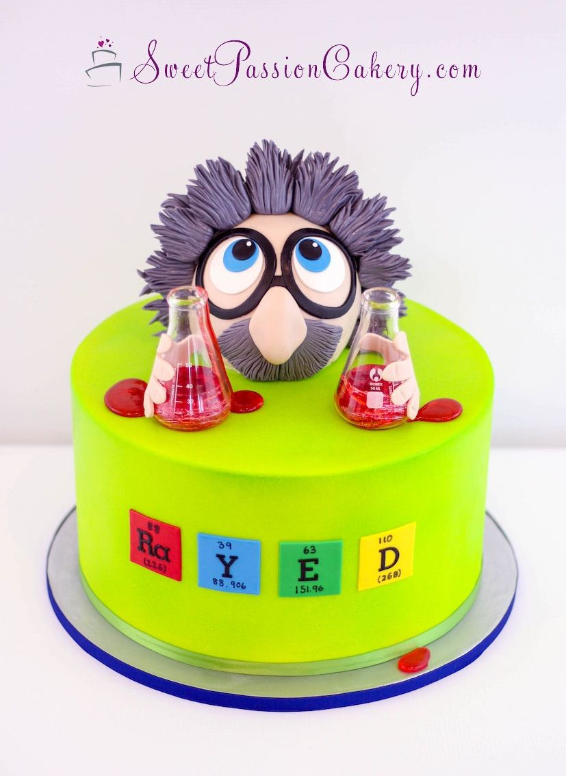 Mad Scientist Cake Www Sweetpassioncakery Com With Images