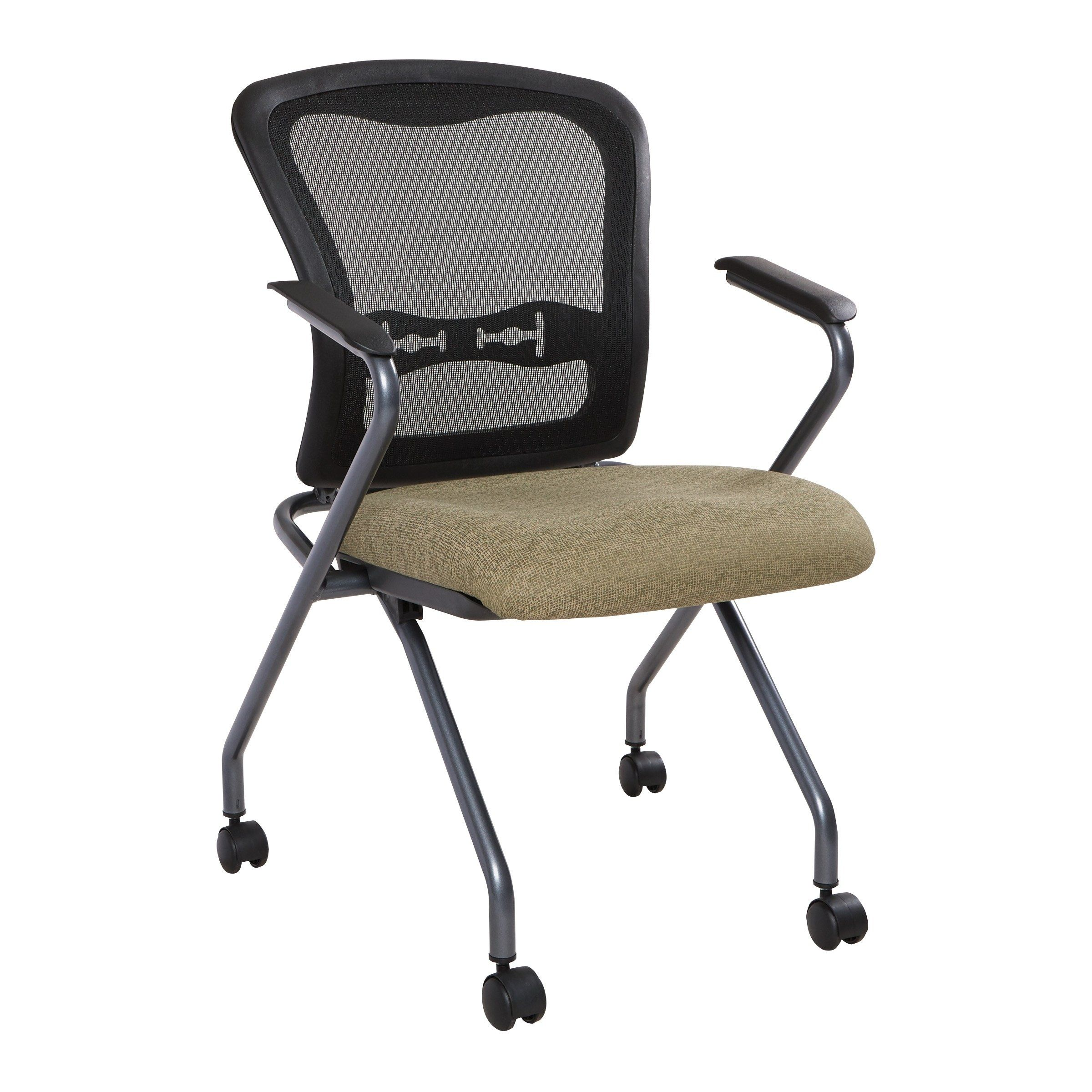 Pro Line Ii Deluxe Folding Chair With Progrid Back 2 Pack Green