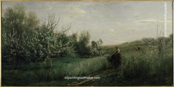 Charles-Francois Daubigny Spring, 1857, painting Authorized official website