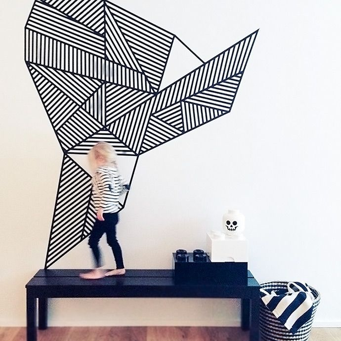 #DIY Masking Tape Wall Mural For Kids Http://www.kidsdinge. Part 14