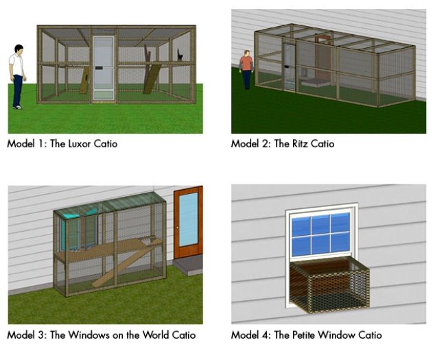 Catios! Outdoor cat enclosures and tunnels. #catlady Awesome ...