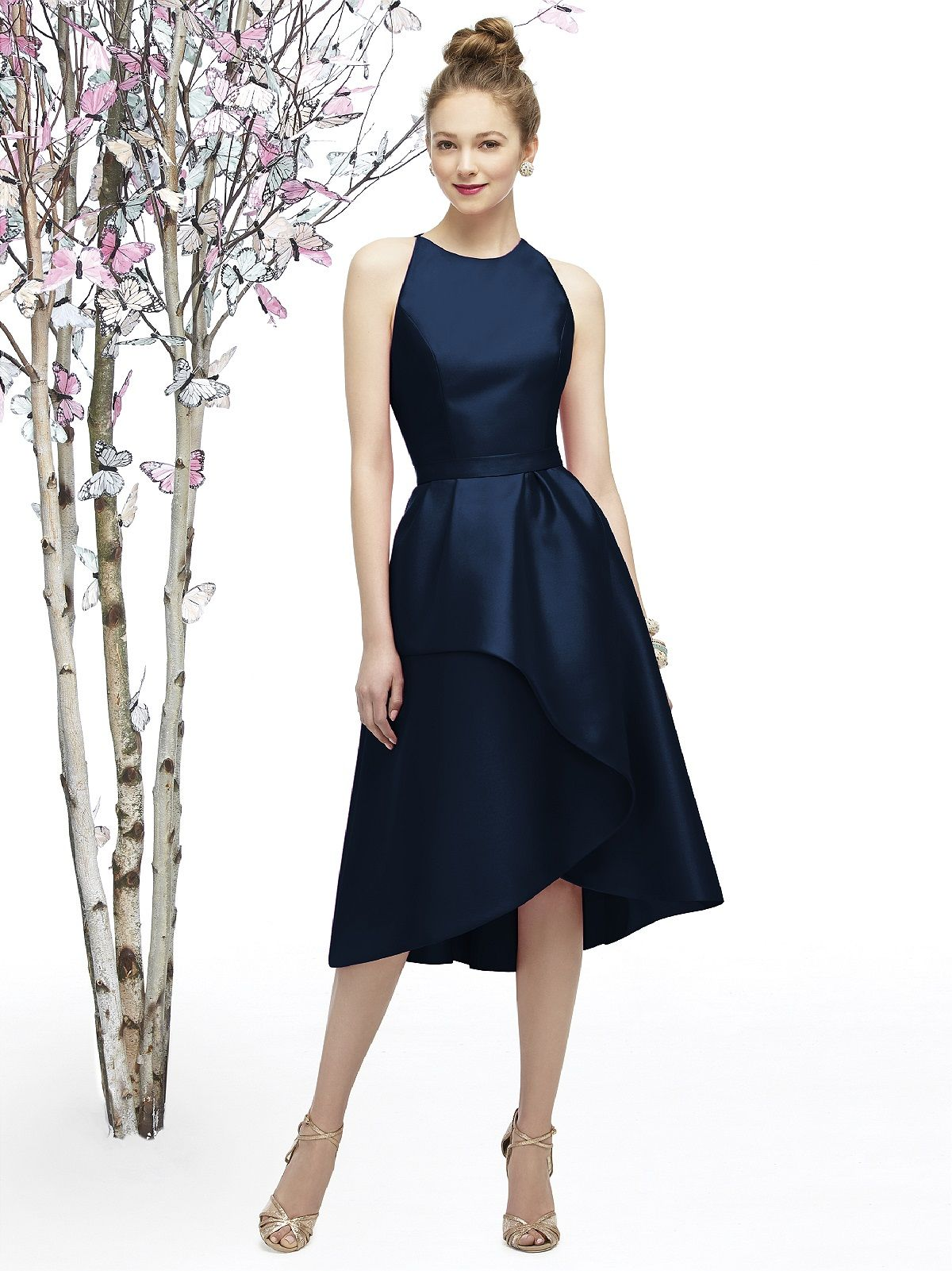 Lela rose lr bridesmaid dress in navy blue the big day